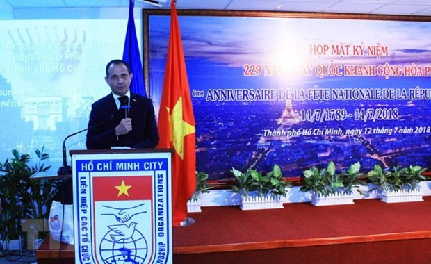 Conmemoran Dia Nacional de Francia en Ciudad Ho Chi Minh hinh anh 1