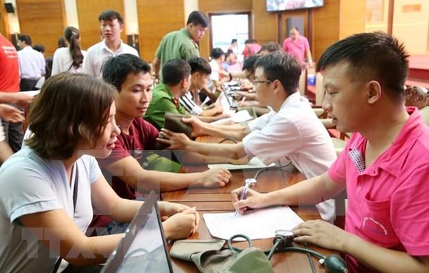 Miles de voluntarios vietnamitas participan en campana de donacion de sangre en Thanh Hoa hinh anh 1
