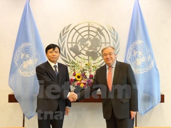 Secretario general de ONU valora cooperacion con Vietnam hinh anh 1