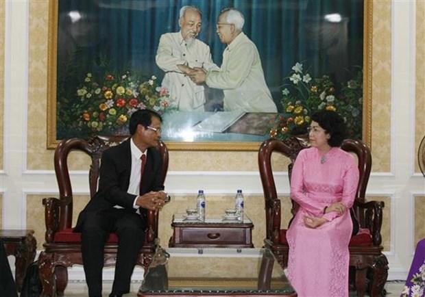 Impulsan cooperacion entre organizaciones de masas de localidades de Vietnam y Laos hinh anh 1