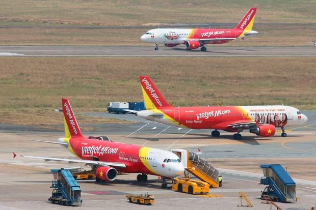Vietjet Air ofrece servicios aereos en terminal T1 del aeropuerto Rangun hinh anh 1