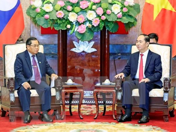 Presidente de Vietnam insta a formentar cooperacion parlamentaria entre su pais y Laos hinh anh 1