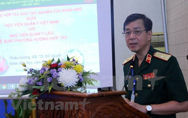 Vietnam y Laos robustecen cooperacion en medicina militar hinh anh 1
