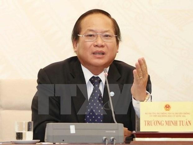 Presidente de Vietnam suspende del cargo a ministro de Informacion y Comunicacion hinh anh 1