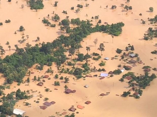 Gobierno de Laos declara zona de desastre distrito afectado por colapso de presa hidroelectrica hinh anh 1