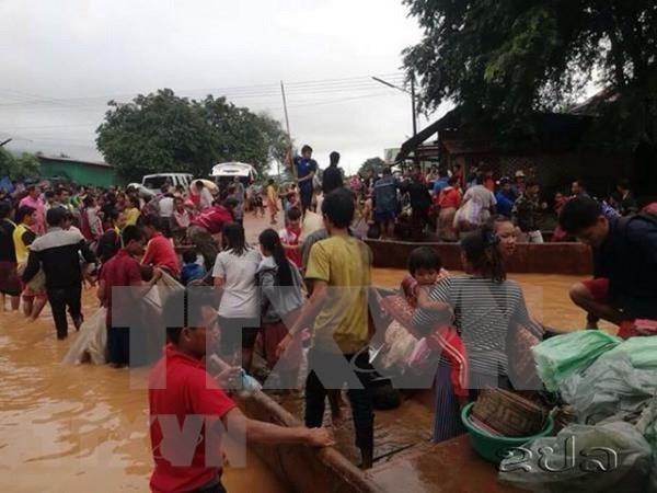 Presidenta del Parlamento de Vietnam expresa solidaridad con Laos tras colapso de presa hinh anh 1