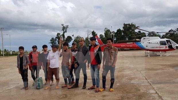 Empresa vietnamita evacua a sus trajadores de zona afectada por colapso de presa en Laos hinh anh 1