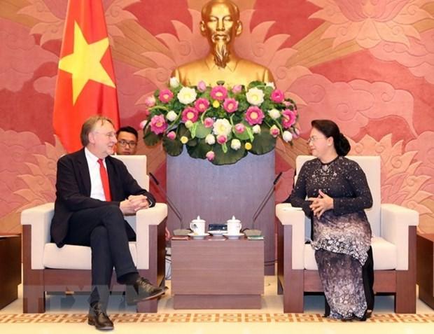 Vietnam garantiza la operacion efectiva de empresas europeas, afirma presidenta parlamentaria hinh anh 1