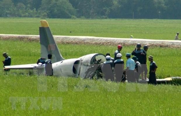 Un avion militar de Vietnam cae en provincia central de Nghe An hinh anh 1