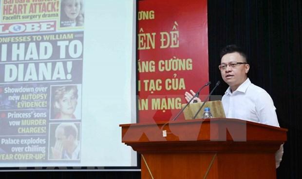 Efectuan en Vietnam seminario sobre lucha contra informacion distorsionada de fuerzas hostiles en el ciberespacio hinh anh 1