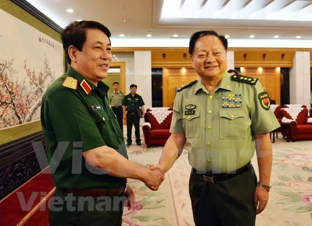 Dirigentes de Vietnam y China respaldan cooperacion en defensa hinh anh 1