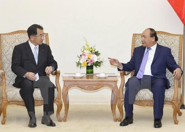 Premier de Vietnam recibe a parlamentarios de amistad Japon-Mekong hinh anh 1