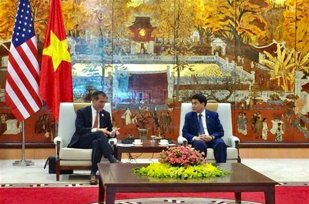 Hanoi adquiere experiencias de Estados Unidos en control de contaminacion ambiental hinh anh 1