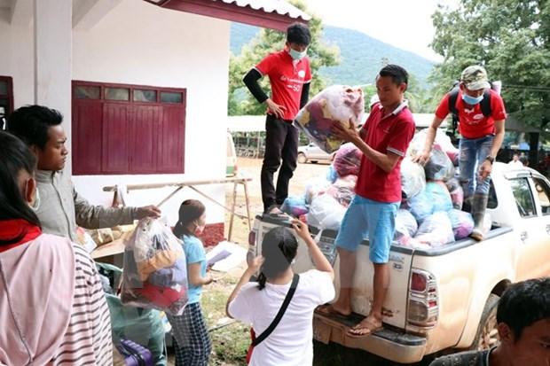 Cruz Roja de Vietnam ayuda a victimas del colapso de presa hidroelectrica en Laos hinh anh 1