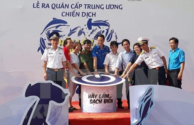 Lanzan en Vietnam campana de limpieza del mar hinh anh 1