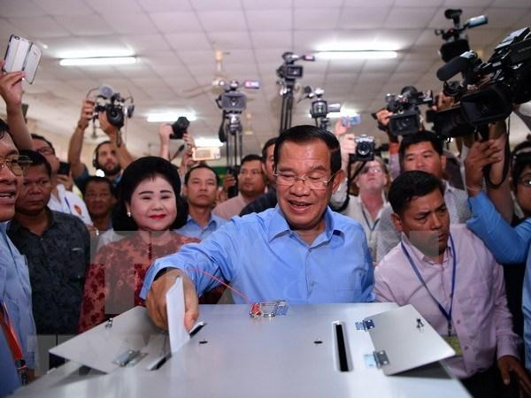 Partido gobernante CPP gana elecciones generales en Camboya hinh anh 1