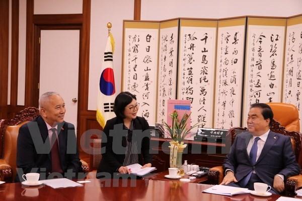 Lider parlamentario de Corea del Sur resalta importancia de Vietnam en politica de su pais hinh anh 1