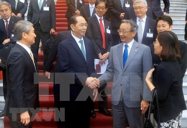 Federacion economica japonesa Keidanren respalda la capacitacion del personal de Vietnam hinh anh 1