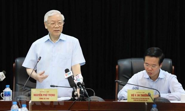 Maximo dirigente politico de Vietnam elogia logros del sector de propaganda y educacion hinh anh 1