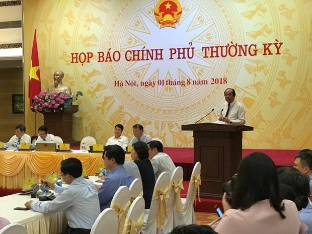 Vietnam registra positivos logros socioeconomicos en primeros siete meses de 2018 hinh anh 1