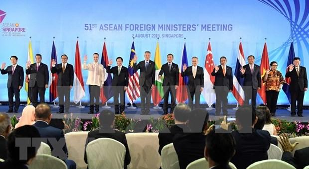 Cancilleres de la ASEAN se reunen en Singapur hinh anh 1