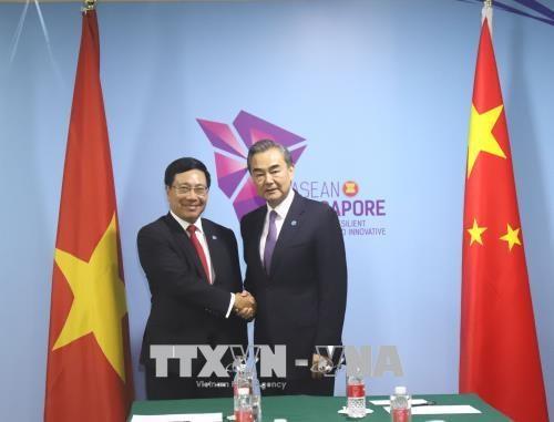 Vietnam y China fortalecen nexos bilaterales hinh anh 1