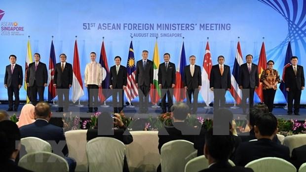 ASEAN y socios de dialogo comprometidos a fortalecer cooperacion hinh anh 1
