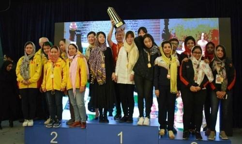 Equipo femenino vietnamita gana plata en el campeonato asiatico de ajedrez hinh anh 1