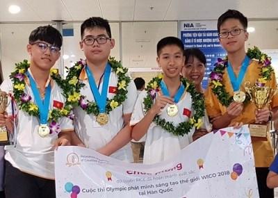 Estudiantes vietnamitas ganan oros en Olimpiada Mundial de Creatividad e Invencion hinh anh 1