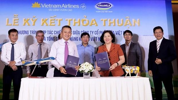 Vietnam Airlines y Vinamilk colaboran para brindar mejor servicio a clientes hinh anh 1