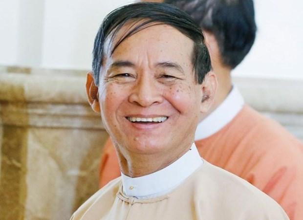 Presidente myanmeno insta a pobladores a participar en desarrollo de la ASEAN hinh anh 1