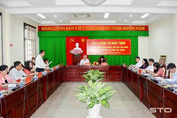 Vicepresidenta de Vietnam visita las provincias surenas de Soc Trang y Bac Lieu hinh anh 1