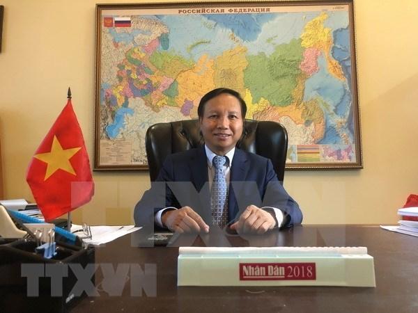 Relaciones Vietnam- Rusia son tesoro valioso de ambos pueblos, afirma embajador vietnamita hinh anh 1