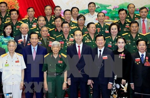Presidente de Viernam reconoce aporte al desarrollo de Asociacion de empresarios veteranos de guerra hinh anh 1