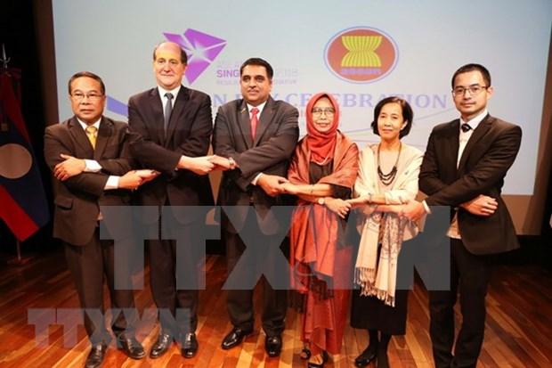 Celebran aniversario 51 de fundacion de ASEAN en Argentina hinh anh 1