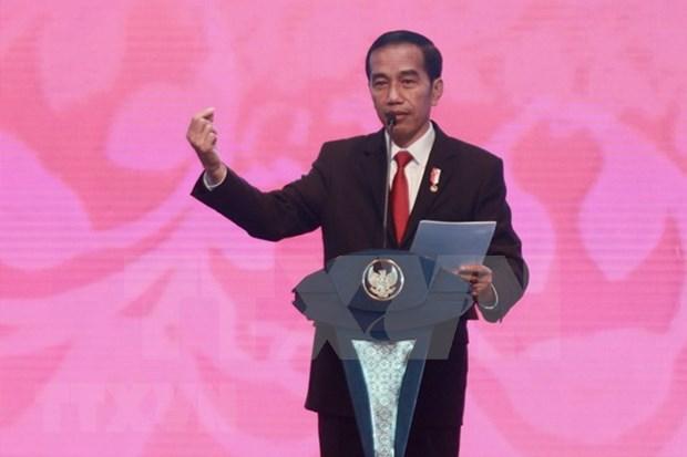Joko Widodo se registrara para las elecciones presidenciales de Indonesia en 2019 hinh anh 1