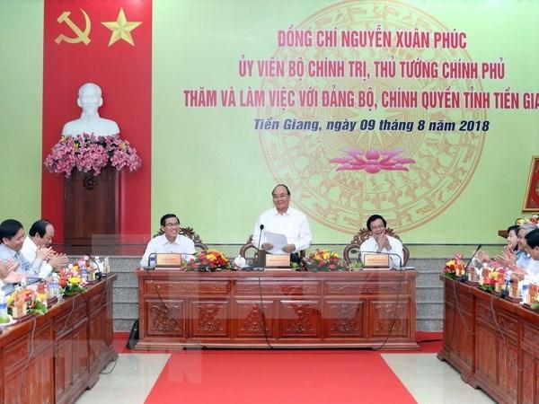 Premier de Vietnam sugiere a Tien Giang desarrollo de economia basada en agricultura hinh anh 1