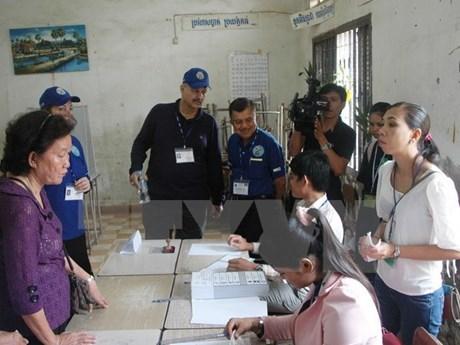 Camboya publica resultados preliminares de elecciones generales hinh anh 1