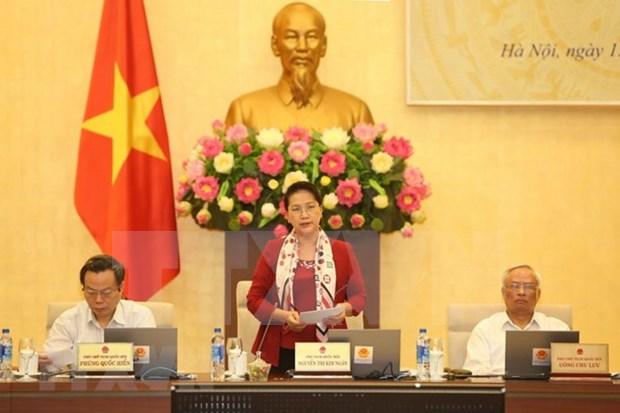 Comite Permanente del Parlamento de Vietnam concluye su XXVI reunion hinh anh 1