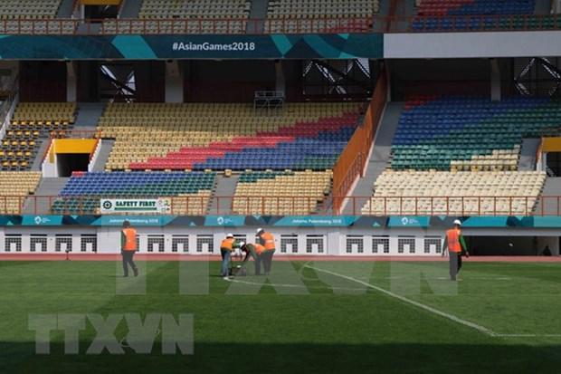 Estadio indonesio listo para debut de seleccion vietnamita de futbol en ASIAD 2018 hinh anh 1
