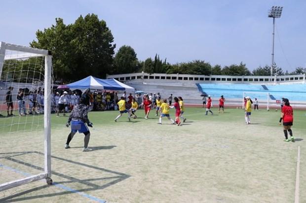 Nutrida participacion de estudiantes vietnamitas en evento deportivo en Corea del Sur hinh anh 1