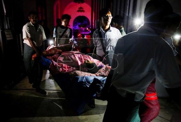 Incendio en hospital en ciudad de Rangun, en Myanmar hinh anh 1