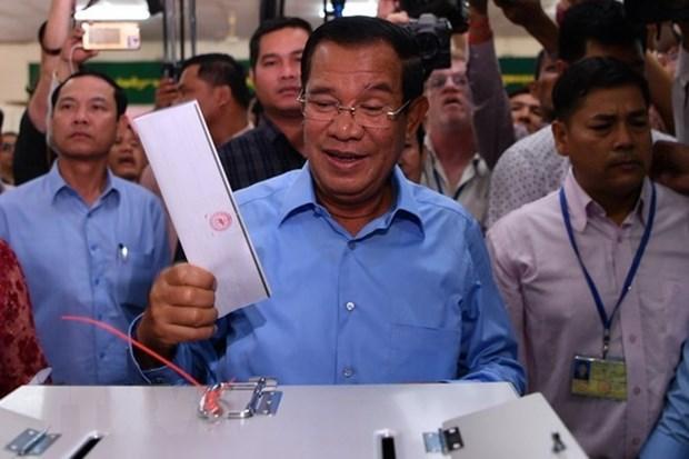 Partido Popular de Camboya gana todos los escanos del Parlamento hinh anh 1