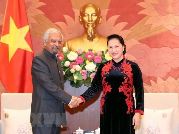 Maxima legisladora de Vietnam recibe a representantes de Naciones Unidas hinh anh 1
