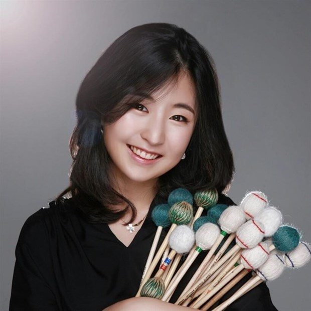 Actuara percusionista sudcoreana en Ciudad Ho Chi Minh hinh anh 1