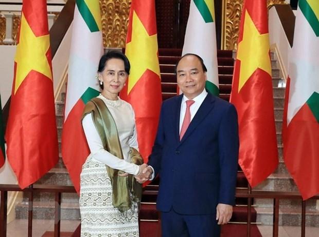 Vietnam y Myanmar por fortalecer nexos de asociacion de cooperacion integral hinh anh 1