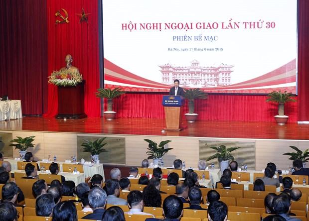 Concluye la trigesima Conferencia de Diplomacia de Vietnam hinh anh 1