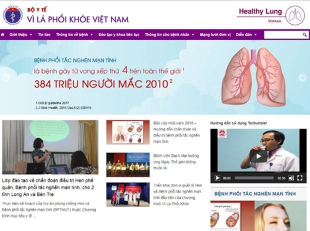 """Presentan en Vietnam pagina web """"Por un pulmon sano"""" hinh anh 1"""