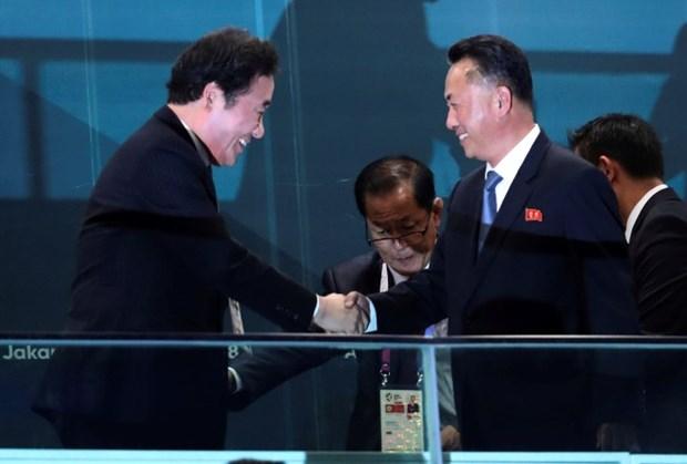 Dirigentes de las dos Coreas se reunen con el presidente de Indonesia, Joko Widodo hinh anh 1
