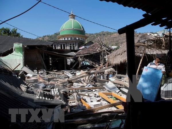 Nuevo terremoto golpea isla indonesia de Lombok hinh anh 1